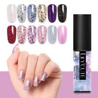 LILYCUTE 5ml Glitter Pailletten UV Gel Nagellack Colorful Nail Art Gel Maniküres