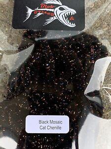 Black Mosaic Cat Chenille