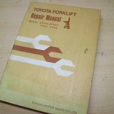 Toyota 2fd50 2fd60 Fg50 Fg60 Forklift Repair Shop Service Manual Fg 2fd Series