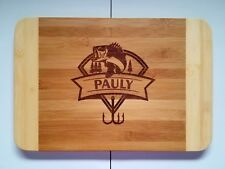 Personalized Bamboo Cutting Board Fisherman Fishing Outdoors Father's day gift