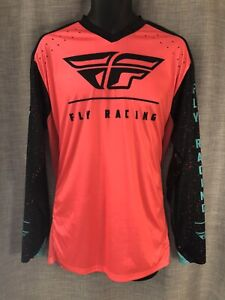 Fly Racing Shirt Lite Hydrogen Long Sleeve XL Orange Black