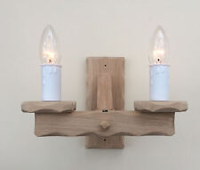 TWSO/2 - Wooden Oak 2-Light Wall Light / Wood Wall Bracket