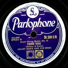 COUNT BASIE & ORCH. Pound Cake / Clap Hands, here..  Schellackplatte 78rpm X3319