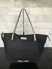 Kate Spade Sophie Kennedy Park Tote Bag Black Polkadot Nylon Leather Shopper