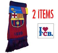 Barcelona scarf Reversible New Season + sticker Soccer FC Barcelona Messi 10