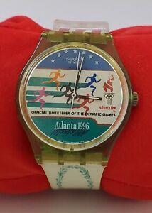 swatch atlanta 1996 olympics watch  Laurels works **see description has wear