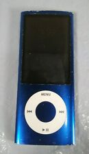 Apple iPod Nano Blu 5th generazione 8GB con la fotocamera modello A1320 cavo di alimentazione mancante
