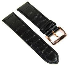 Hugo Boss Bracelet de Montre Cuir 22mm Noir pour Hb 1512635
