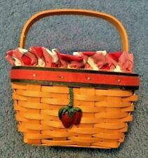 Longaberger 2001 All American Strawberry Complete Combo with Tie-On