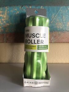 NEW SEALED Gaiam Mini Muscle Roller Fitness Deep Massage Travel Size Portable