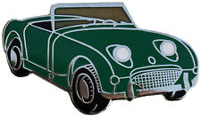 Austin Healey Sprite MkI (Bugeye Frogeye) car cut out lapel pin  - Green
