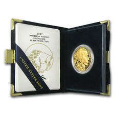 2007-W 1 oz Proof Gold Buffalo Coin - with Box and Certificate - SKU #26589