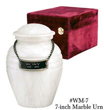 White Color, Child/Pet Funeral Cremation Urn made out of a block of Solid Marble