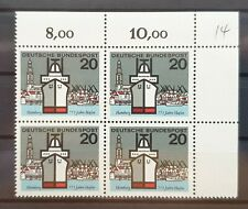 Bund 1964 ** Mi 417 Hamburg Hafen Eckrandviererblock 4er Ecke oben rechts (1052)