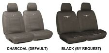 PAIR R. M. WILLIAMS COTTON CANVAS SEAT COVERS FOR NISSAN XFN RWD UTE