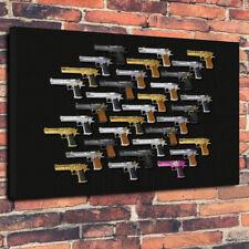 """Desert Eagle Gun collage toile imprimée photo A1.30""""x20""""30mm de profondeur de Guerre, armes"""
