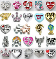 New lot 5PCS Floating Charms For Glass Memory Locket necklace Bracelet Jewelry