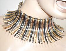 COLLAR mujer oro dorado plata gris gargantilla rígido elegante ожерелье G15
