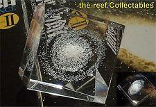 """MILKY WAY """"Spiral Galaxy"""" 3D Laser-etch cut-glass crystal 25mm mini-Cube KAIYODO"""
