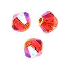 20 Perles Toupies 4mm Cristal Swarovski - FIREOPAL AB