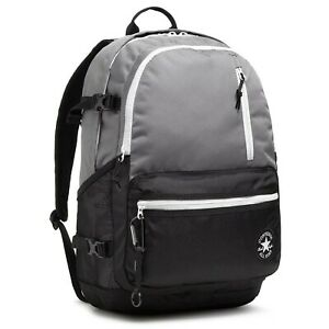 Converse Straight Edge Backpack 26 Liter Capacity, 10021018-A01 Gray/Black