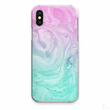 Pink Marble Phone Case Green Pink Swirl Hard Cover For Apple Samsung Huawei