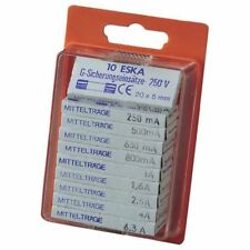 ESKA 121.800 Medium Blow Micro Fuses 5 x 20mm, Pack of 100