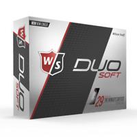 WILSON STAFF DUO SOFT - WHITE - 2 DZ GOLF BALLS - NEW!