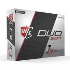 WILSON STAFF DUO SOFT - WHITE - 1 DZ GOLF BALLS - NEW!