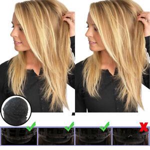 Damen Ombre Blond Haar Volle Perücke Glatt Langhaarperücke wie Echthaar Perücken