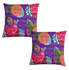 Kantha Printed Home Decor Cushion Cover Kantha Cotton Pillow Cover Fruit Cushion
