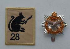 British Army Gurkha Transport Regiment Cap & Cloth Arm Badge