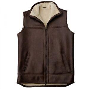 Men's Lamb fur Vest Luca Merino Sheepskin Real Leather Outdoor Vest