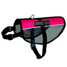 Service Dog Vest Mesh with Removable 2 Label Patches Reflective Dog Harness