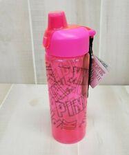 Victoria's Secret PINK Water Bottle Neon Black Logo Carry Strap 32oz Tumbler jug