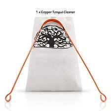 100% Copper & Ayurvedic Tongue Cleaner Scraper Ulyu Ulyoo UK