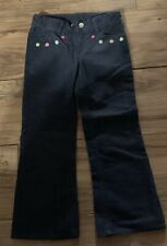 Gymboree Smart And Sweet Girls Pants Size 5 Blue Corduroy Adj Waist