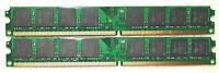 4 GB 2x2GB DDR2-800 MHZ PC RAM PC2-6400U DIMM 240-pin Works With Intel & AMD