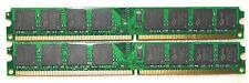 4 GB 2X2 GB DDR2-800 MHz PC RAM pc2-6400u DIMM 240-pin NUOVO Works with Intel & Amd