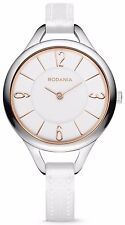 RODANIA Cylia 2608923 Original Fossil Ladies Leather Runway Dial Analog Watch