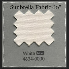 "Sunbrella Fabric 60"" Wide White By the Yard NEW COLOR"