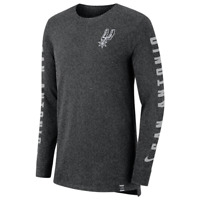 San Antonio Spurs Mens Nike City Edition Long Sleeve T-Shirt Dri XL NEW $45