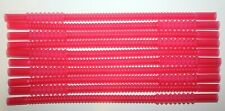 "Tupperware 10 Whistle Straws 11"" Long Emberglow Red Reusable Bendable Expandable"