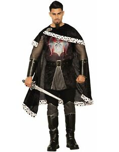Dark Royal Evil King Mens Adult Knight Halloween Costume-Std