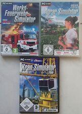 Agrar Simulator 2012 + Werksfeuerwehr Simulator + Kran Simulator Sammlung PC