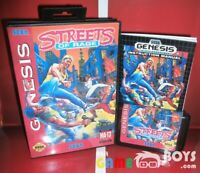 Streets of Rage 1 I Game Cartridge for SEGA Genesis Complete Boxed USA NTSC-U/C