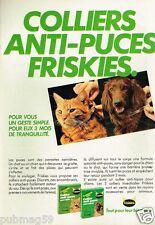 Publicité advertising 1981 Produits chien chat Friskies