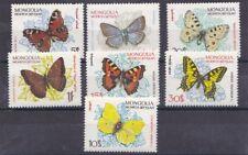 Mongolia 1963 Farfalle 294-300 MHN