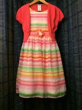 Dainty pastel stripe dress, Girls size 16