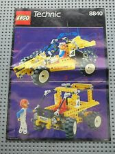 Notice Building instruction booklet LEGO TECHNIC vintage set 8840 Rally Shock